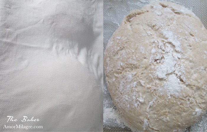 Amor Milagre The Baker Artisan Crusty Round Everyday Basic Bread Recipe and Photography by amormilagre.com Organic, Vegan Vegetarian, Plant-based, Healthy. Artwork, Stationery, Organic Apparel, and Custom Gifts. Baby and Me Meal Snack, Garden, France, Italy, Europe Travel
