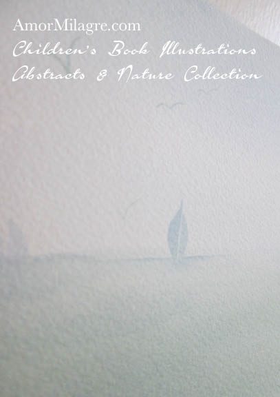 Amor Milagre Maine Sailboats on the Ocean Water 1 Watercolor The Shop at Dove Cottage Children's Book Illustrations beautiful for all spaces and ages, especially in a nursery amormilagre.com
