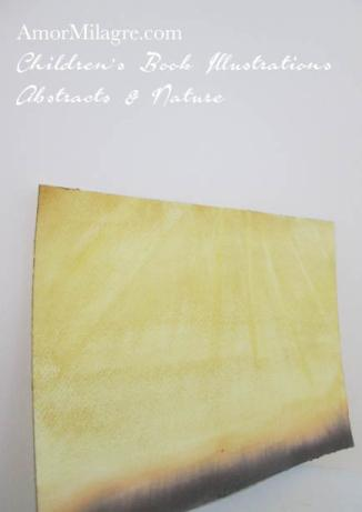 Amor Milagre Miracle Light Golden Yellow Sun Color Nature Paintings Watercolor Abstract The Shop at Dove Cottage Children's Book Illustrations beautiful for all spaces ages, nursery amormilagre.com