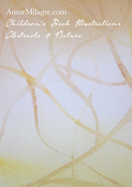 Amor Milagre Pepper Tree yellow Color Nature Paintings Watercolor Abstract The Shop at Dove Cottage Children's Book Illustrations beautiful for all spaces ages, nursery amormilagre.com 1