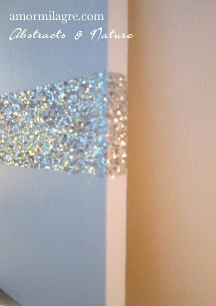 Amor Milagre Baby Blue Silver Glitter Nursery Painting 1 Baby & Child original artwork amormilagre.com
