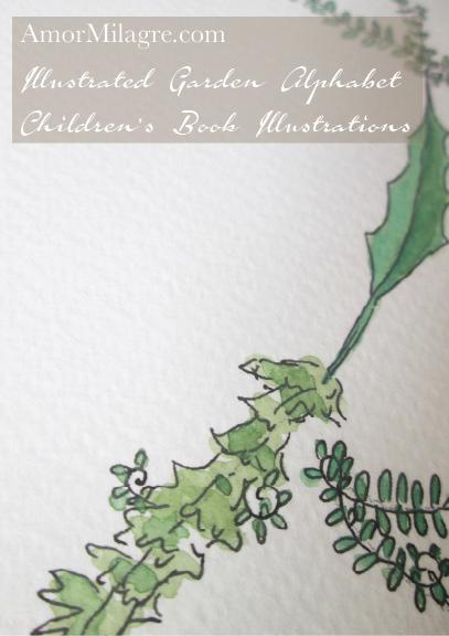 Amor Milagre Illustrated Garden Alphabet Letter S 1 amormilagre.com