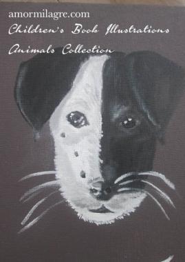 Amor Milagre Jack Russell Terrier Dog Painting original artwork amormilagre