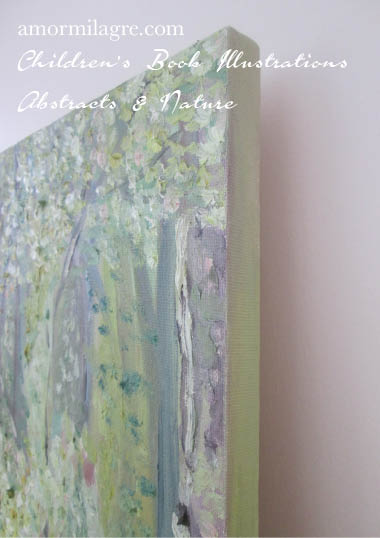 Amor Milagre Paradise Garden Trees Oil Painting original artwork amormilagre.com