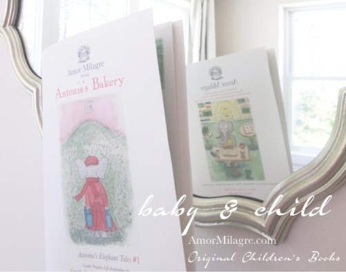 Grand Opening Ethical Bookshop Amor Milagre Presents Antonia's Bakery organic original children's book Baby & Child amormilagre.com Nursery FSC Certified Papers, Non-toxic nursery baby gifts for children New baby shower presents