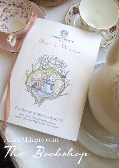 Amor Milagre Presents Sage in Winter 15 holiday Ethical Bookshop organic original children's book girls Baby & Child amormilagre.com