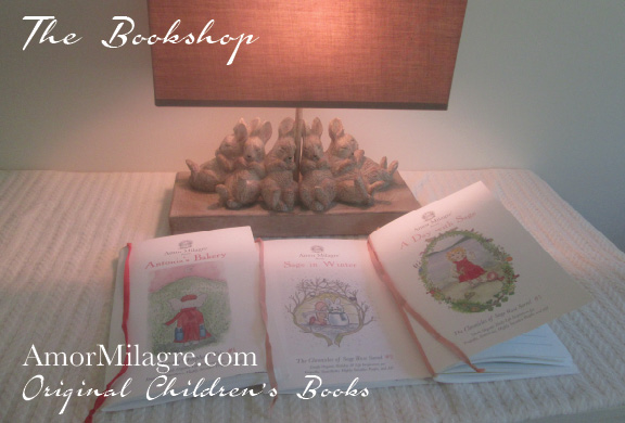 Amor Milagre Presents The Bookshop A Day with Sage ethical original children's book amormilagre.com