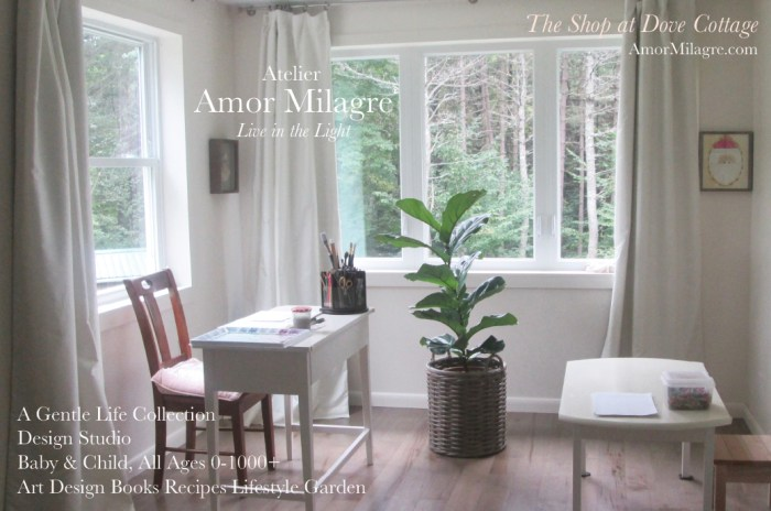 Amor Milagre Atelier Design Studio Interiors The Shop at Dove Cottage Baby & Child Collection Art Design Books Healthy Organic Life Apparel Baby Organic Nursery amormilagre.com