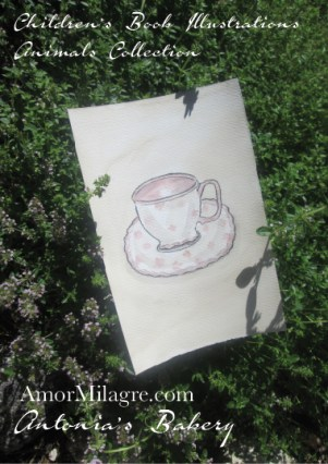 Amor Milagre Antonia Organic Wildflower Tea Home garden Antonia's Bakery Ethical Children's Book Illustration The Shop at Dove Cottage Children's nursery artwork amormilagre.com