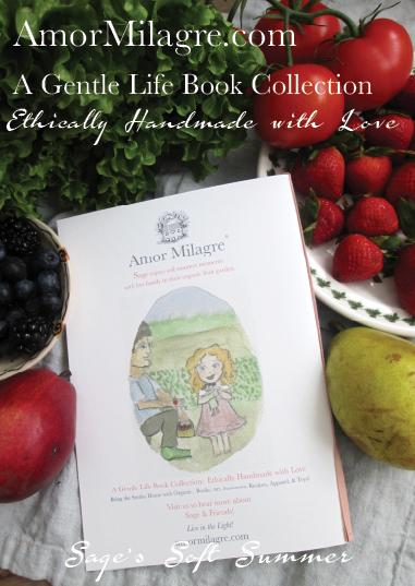 Amor Milagre Presents Sage's Soft Summer cover ethical organic original children's book amormilagre.com nursery bookshop strawberry baby doll Hazel memories vegan girls