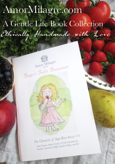 Amor Milagre Presents Sage's Soft Summer ethical organic original children's book amormilagre.com nursery bookshop strawberry baby doll Hazel memories vegan girls