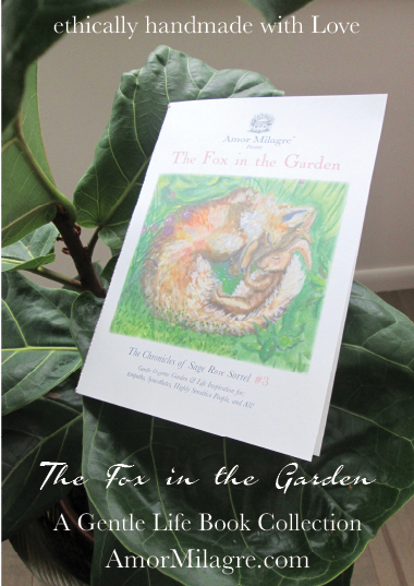 Amor Milagre Presents The Fox in the Garden ethical organic original children's book amormilagre.com nursery bookshop bunny vegetables vegan fig ficus tree