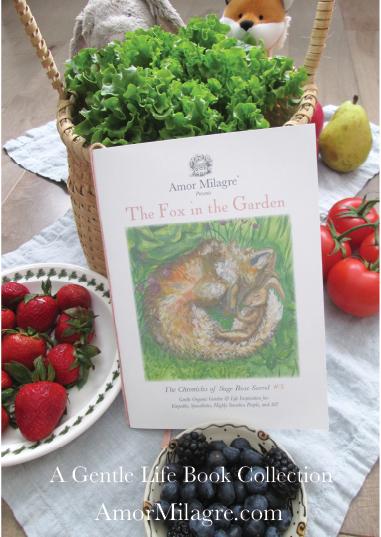 Amor Milagre Presents The Fox in the Garden ethical organic original children's book amormilagre.com nursery bookshop bunny vegetables vegan peek a boo