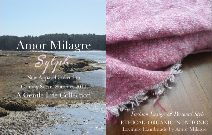 Amor Milagre Spring 2019 Sylph Ocean Air Ethical Organic Apparel Collection Fashion Personal Style women's clothing toddler Handmade Gift Shop Art Apparel Vegan Baby & Child amormilagre.com