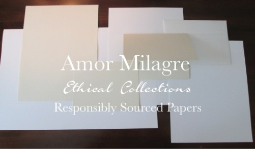 Amor Milagre Ethical Personalized Romantic Stationery Collection & Sets amormilagre.com Paperie sustainable papers