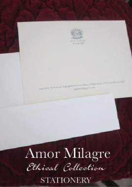 Amor Milagre Ethical Personalized Romantic Stationery Collection & Sets amormilagre.com love letter Paperie sustainable paper logo