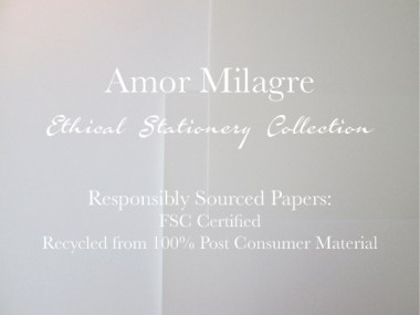 Amor Milagre Ethical Romantic Stationery Collection & Sets amormilagre.com Paperie sustainable paper cards