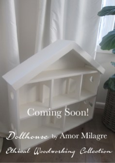 Ethical Dollhouse Woodworking Amor Milagre Handmade Organic Toys Children Baby & Child Custom Gifts Shop Company Nursery Product Design amormilagre.com