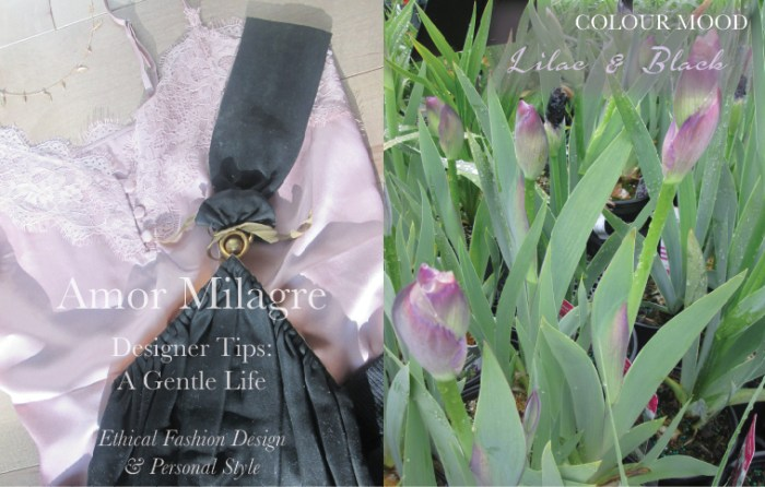 Amor Milagre Spring Fashion Personal Style 2019 Lilac Purple & black clasp vintage handbag 1940's colour mood Ethical Handmade Gift Shop Art Organic Women's amormilagre.com