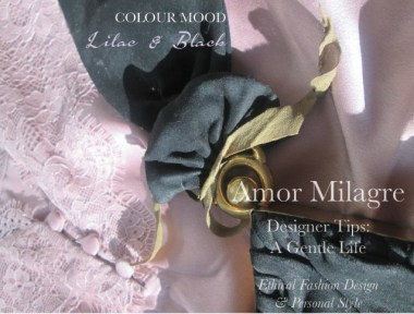 Amor Milagre Spring Fashion Personal Style 2019 Lilac Purple & black vintage 40's handbag colour mood Ethical Handmade Gift Shop Art Organic Women's amormilagre.com