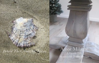 Amor Milagre Custom Built Home Interior Design Moments Goodnight, Dove Cottage 2019 Ethical Seashell dining table grey wood amormilagre.com