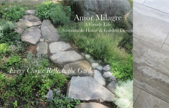 Amor Milagre Custom Built Home Interior Design Moments Goodnight, Dove Cottage 2019 Ethical garden stone tile bathroom floor amormilagre.com