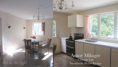 Amor Milagre Custom Built Home Interior Design Moments Goodnight, Dove Cottage 2019 Ethical kitchen dining room amormilagre.com