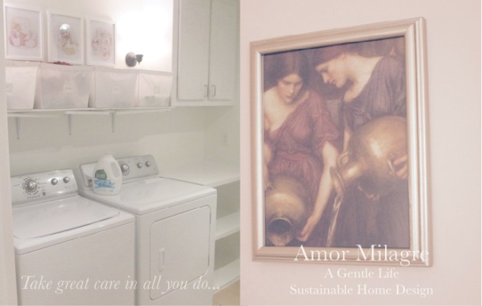 Amor Milagre Custom Built Home Interior Design Moments Goodnight, Dove Cottage 2019 Ethical laundry room painting Mrs. Tiggywinkle amormilagre.com