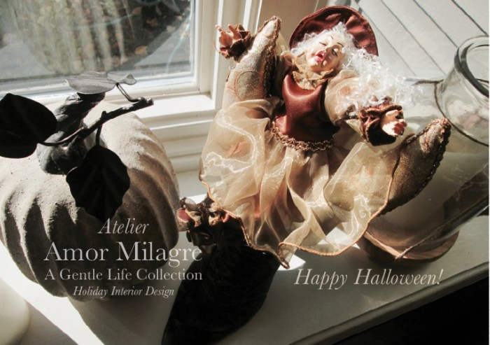 Amor Milagre Happy Halloween Autumn pumpkin witch English decorations Design 2019 Ethical Organic Gift Shop Handmade Gift Shop Art Baby Child amormilagre.com