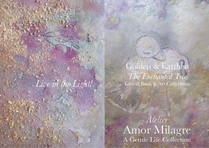 Amor Milagre Shop Golden Bird Nestled In Watercolour Golden & Earthen The Enchanted Tree New Children's Book & Art Collection Autumn 2019 amormilagre.com