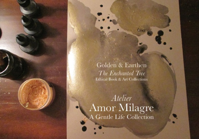 Amor Milagre Shop Golden Dance in the Wind Night Painting Watercolour Golden & Earthen The Enchanted Tree New Children's Book & Art Collection Autumn 2019 amormilagre.com