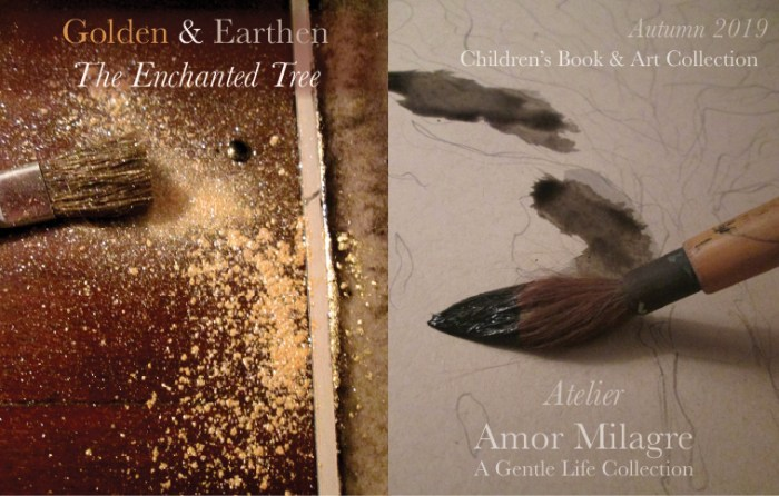 Amor Milagre Shop Golden & Earthen The Enchanted Tree New Children's Book & Art Collection Coming Autumn 2019 Black Ink Gold Dust amormilagre.com