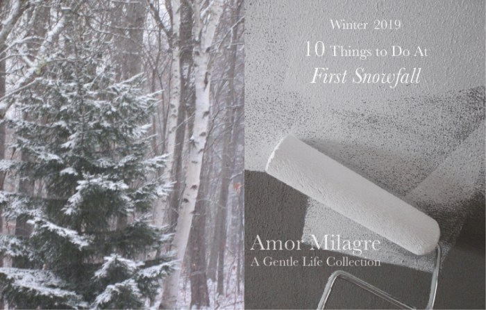 Amor Milagre 10 Things to Do at First Snowfall, Early Winter Holiday Traditions 2019 Ethical Organic Gift Shop Handmade Art Baby & Child Parent Family paint tree amormilagre.com