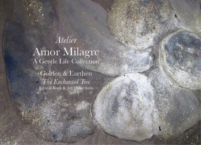 Amor Milagre Shop Golden Rejuvenating Rain Detail Tree Golden & Earthen The Enchanted Tree New Children's Book & Art Collection Autumn 2019 blue gold crystal rock art amormilagre.com