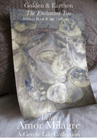Amor Milagre Shop Golden Rejuvenating Rain Tree Golden & Earthen The Enchanted Tree New Children's Book & Art Collection Autumn 2019 blue gold crystal rock art amormilagre.com