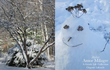 Amor Milagre Snowman & Trees Winter Garden Nature Photography Organic Lifestyle romantic ethical gifts art prints amormilagre.com