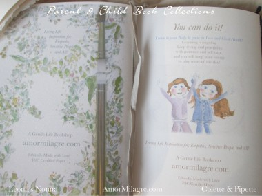 Amor Milagre Parent & Child Book Collection Ethically Handmade back 1 amormilagre.com