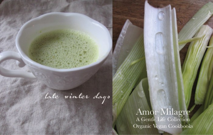 Amor Milagre Late Winter Days 2020 Green Soup Organic Vegan Cookbook Ethical Gift Shop Handmade Art Baby & Child Parent Family amormilagre.com