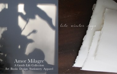 Amor Milagre Late Winter Days 2020 torn printmaking papers Ethical Gift Shop Handmade Art Baby & Child Parent Family snowy mountains amormilagre.com