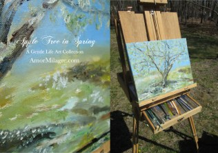 Amor Milagre Presents Apple Tree in Spring Oil Painting, Art Prints, Greeting Cards amormilagre.com 3