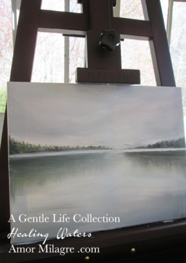Amor Milagre Peaceful Pond Oil Painting, Healing Waters, Art Prints, Cards 3 amormilagre.com