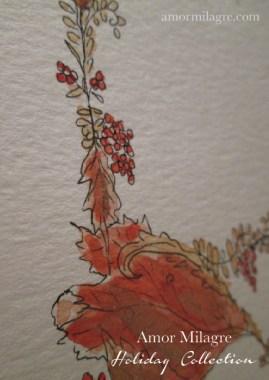 Illustrated Garden Alphabet Letter R Red Autumn Golden 1 Amor Milagre amormilagre.com