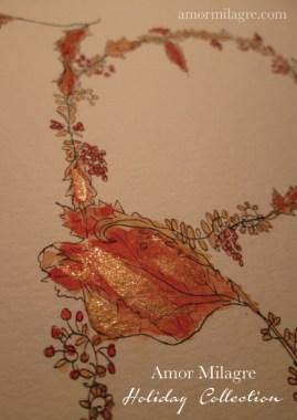 Illustrated Garden Alphabet Letter R Red Autumn Golden 3 Amor Milagre amormilagre.com