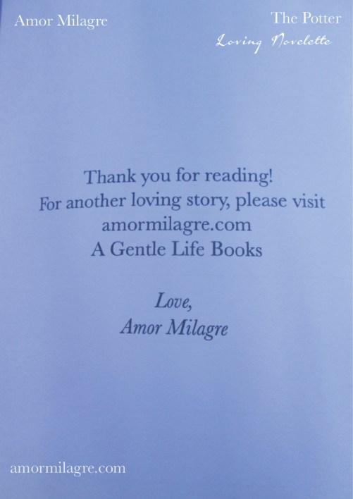 The Potter, Loving Inspiring Self-Health Novelette #1, Amor Milagre Books 3 amormilagre.com