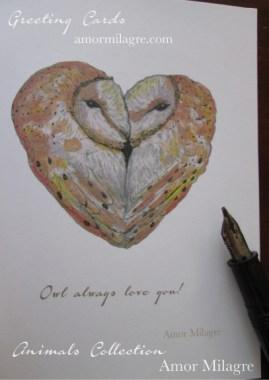 Amor Milagre Owl Always Love You! Greeting Card Love amormilagre.com Valentine