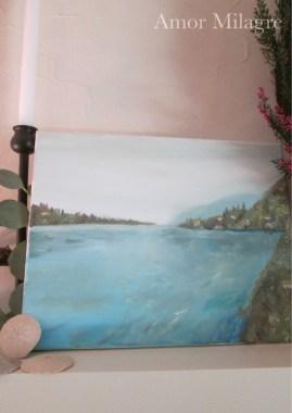 Amor Milagre Leona's Home Amalfi Coast Italy Ocean Oil Painting amormilagre.com