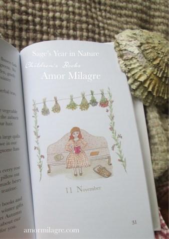 Amor Milagre Sage's Year in Nature Children's Book amormilagre.com 8