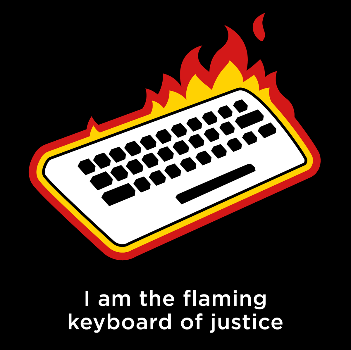 the flaming keyboard of