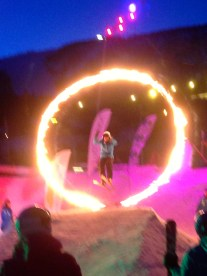 Ida jumping in the Geilo opening ceremony