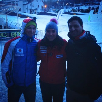 James, Louis and I at the Geilo opening ceremony